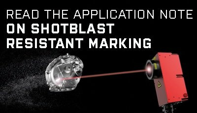 Read Application Note on Shotblast Resistant Marking