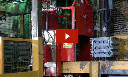 Video: laser marking of lead bundle on a conveyor with class 1 enclosure