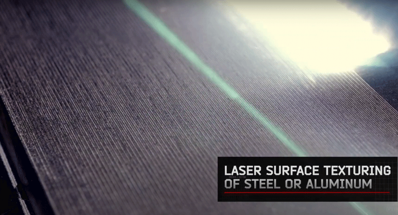Texturing metals with fiber laser power