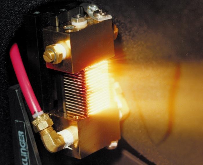 A laser diode emitting light to be pumped into a fiber laser