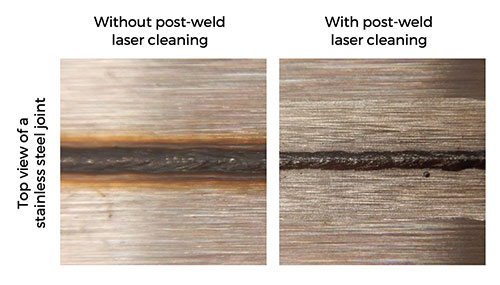 oxide pre-weld laser cleaning results