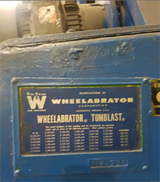 Tumblast Wheelabrator model