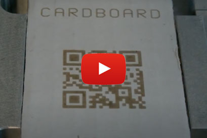 Laser marking cardboard video