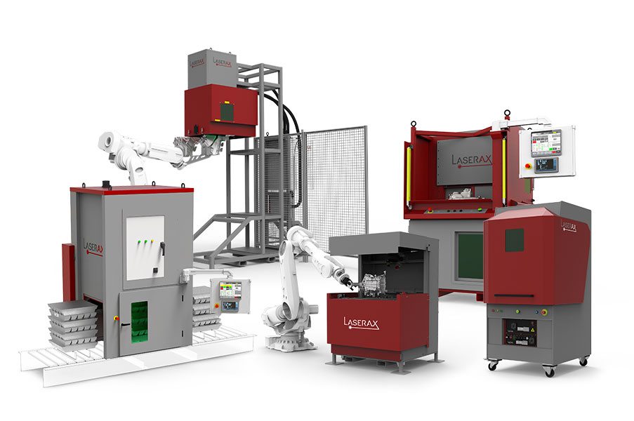 Laser marking machines grouped
