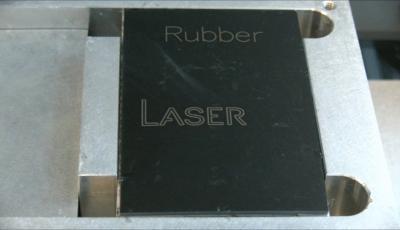 Laser marking of rubber