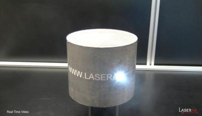 Laser marking of an aluminum billet