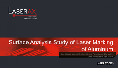 Cover for Surface Analysis Study of Laser Marking on Aluminum