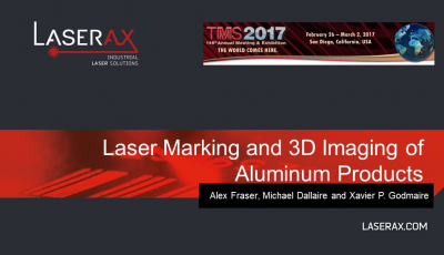 Cover for Laser Marking and 3D Imaging of Aluminum Products